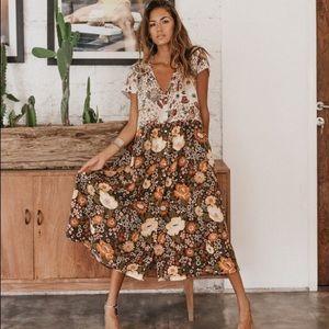 Spell Desert Daisy Midi Dress